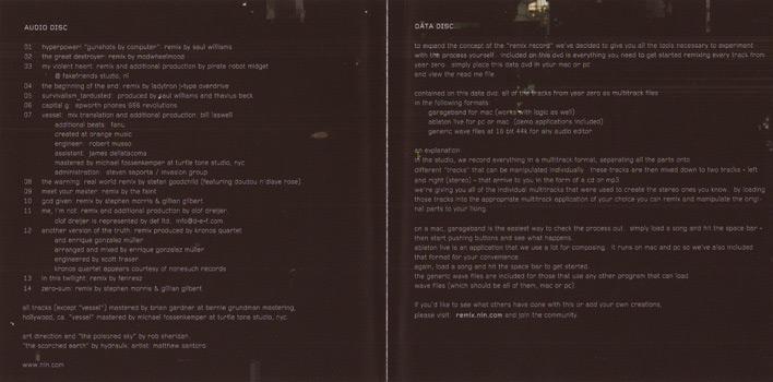 nincatalog com - Y34RZ3R0R3M1X3D (US CD+DVD)
